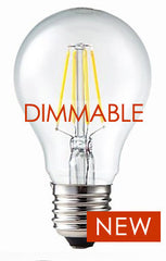 DIMMABLE LED Filament Bulb - 6 watts = 75 watt A19 Incandescent Replacement