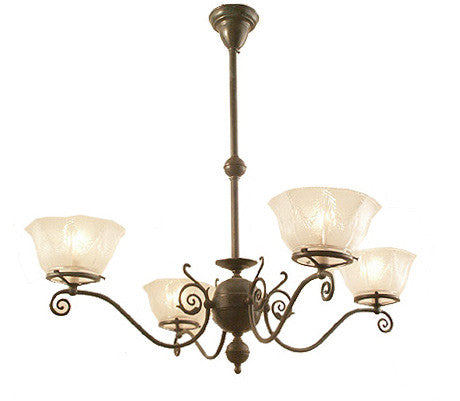 Windermere Chandelier - 4 Light Gas Style