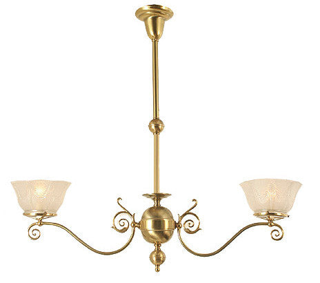 Windermere Chandelier - 2 Light Gas Style