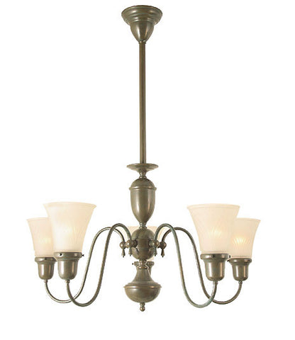 "Jamestown Chandelier - 5 Light With 2 1/4"" Shades"