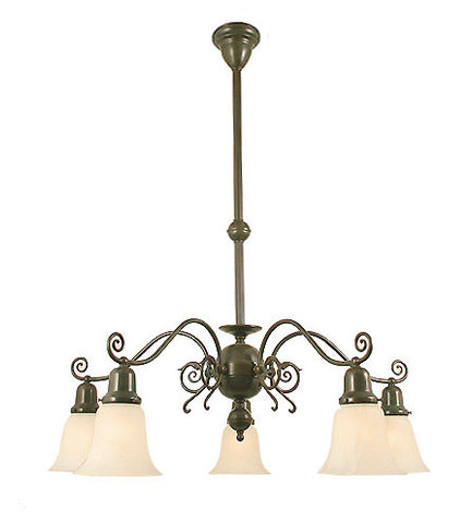 "Windermere Chandelier - 5 Light with 2 1/4"" Shades"