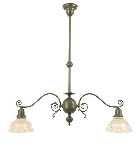 "Windermere Chandelier - 2 Light with 2 1/4"" Shades"