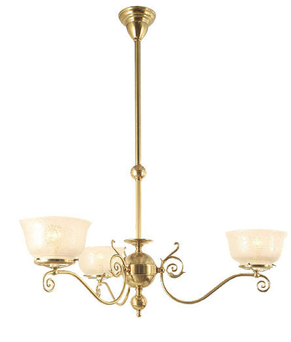 Windermere Chandelier - 3 Light Gas Style