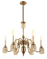 Chelsea Chandelier With Crystals - 6 Light Candle