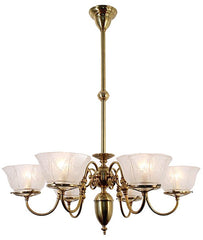 Chelsea Chandelier - 6 Light with Gas Shades