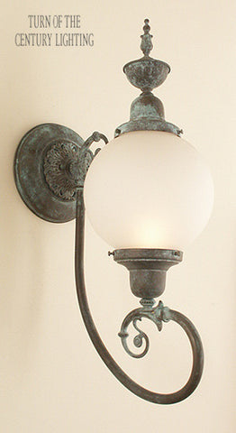 Hilton with Top Exterior Wall Sconce