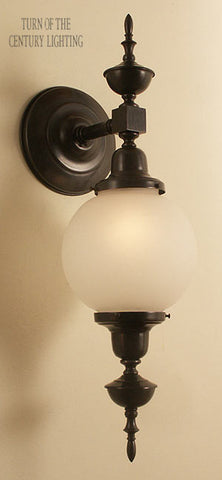 Essex with Top Exterior Wall Sconce