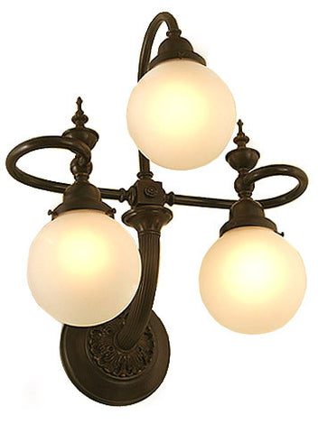 Paramount with Shades Exterior Wall Sconce - 3 Light