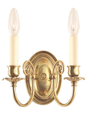 traditional brass candle wall sconce made in Canada