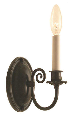 traditional candle wall sconce toronto made in canada by turn of the century lighting