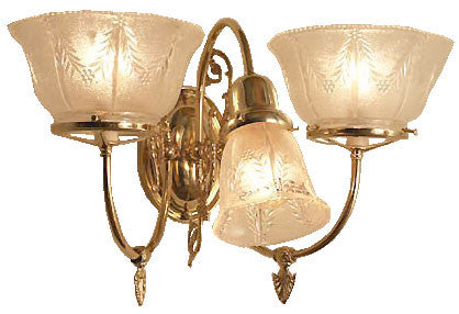 Victoria Gas Electric Wall Sconce - 3 Light