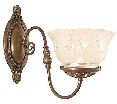 reprduction victorian gas style wall sconce handmade in canada