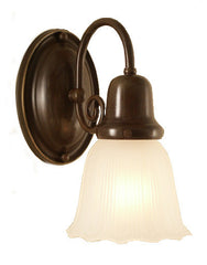 Traditional oil rubbed bronze brass candle wall sconce made in Canada