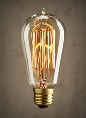 Edison Squirrel Cage Light Bulb - 60 watt