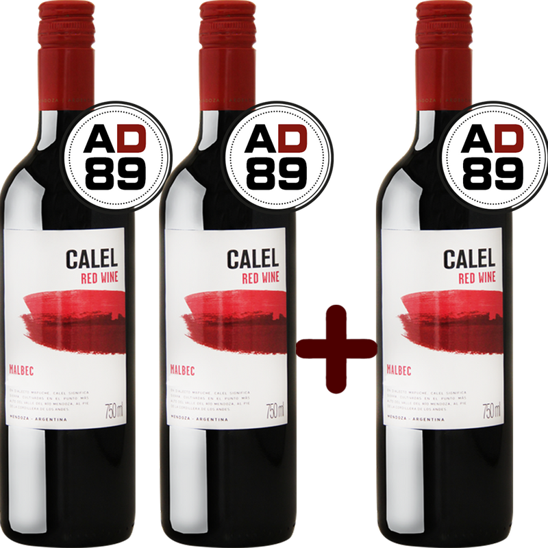 Calel Malbec 2017 - Compre 2 Leve 3