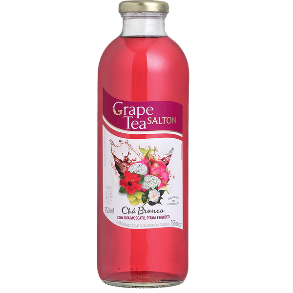 Chá Branco Salton Grape Tea Uva Moscato, Pitaia e Hibisco - Salton