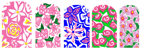 Flower Nail Polish Wraps