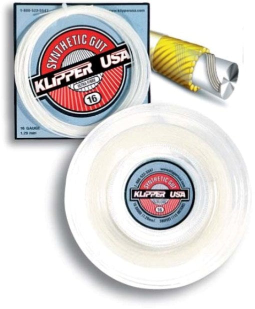 Synthetic Gut 16 Ultra-Fibre Racquet String - Klipper USA