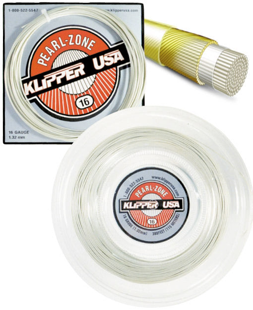 Pearl-Zone 16 Racquet String - Klipper USA