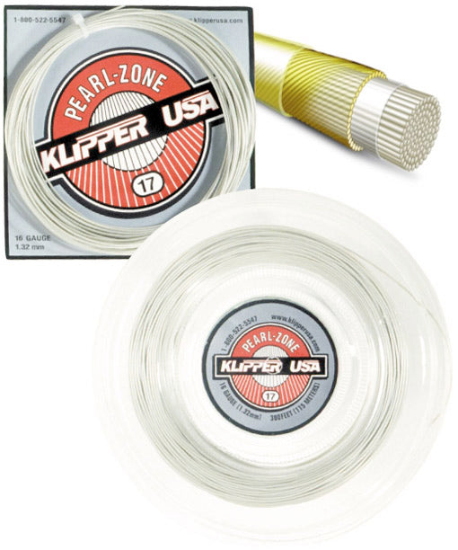 Pearl-Zone 17 Racquet String - Klipper USA