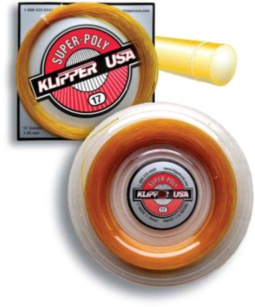 Super-Poly 17 Racquet String - Klipper USA