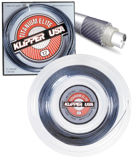 Titanium Elite 17 Racquet String - Klipper USA