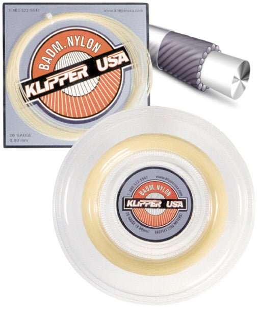 Badminton Nylon 20 Racquet String - Klipper USA