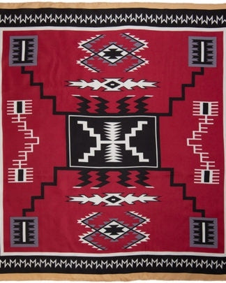 WYOMING TRADERS - AZTEC MAROON/BLACK