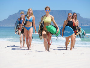 women's kiteboarding and BIG BLUE GIRLS