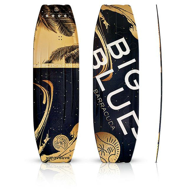 BARRACUDA | carbon kiteboard for women | Freestyle Twin Tip | BIG BLUE Golden edition - BIG BLUE Boards