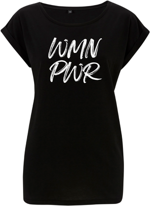 Women-Power BIG BLUE fair wear t-shirt B/W