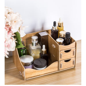 Wooden Storage Box for Cosmetics