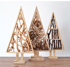 Natural Wood Christmas Tree 100% Handmade Decoration