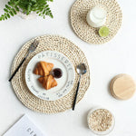 Natural Straw-Woven Dining Table Mats
