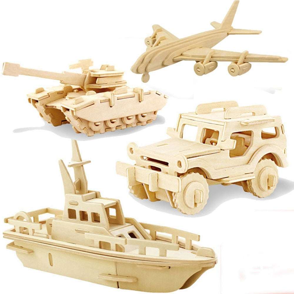 3D Wood Puzzles - Vehicles