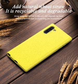 Wheat-Straw Eco-friendly Phone Case For Samsung Phones