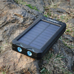 Waterproof Solar Power Bank With Emergency Cigarette Lighter