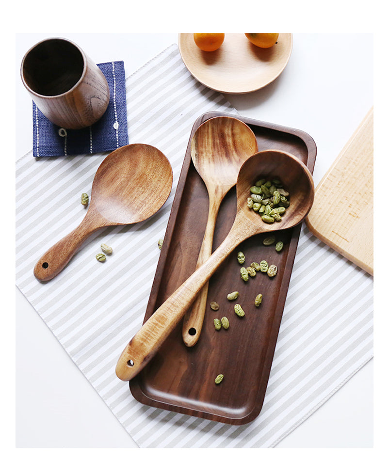 Natural Wooden Kitchenware Set