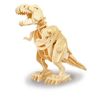 Wooden DIY 3D Walking T-Rex