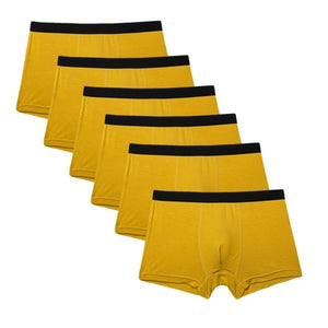 Solid Bamboo Boxers - Pack of 6