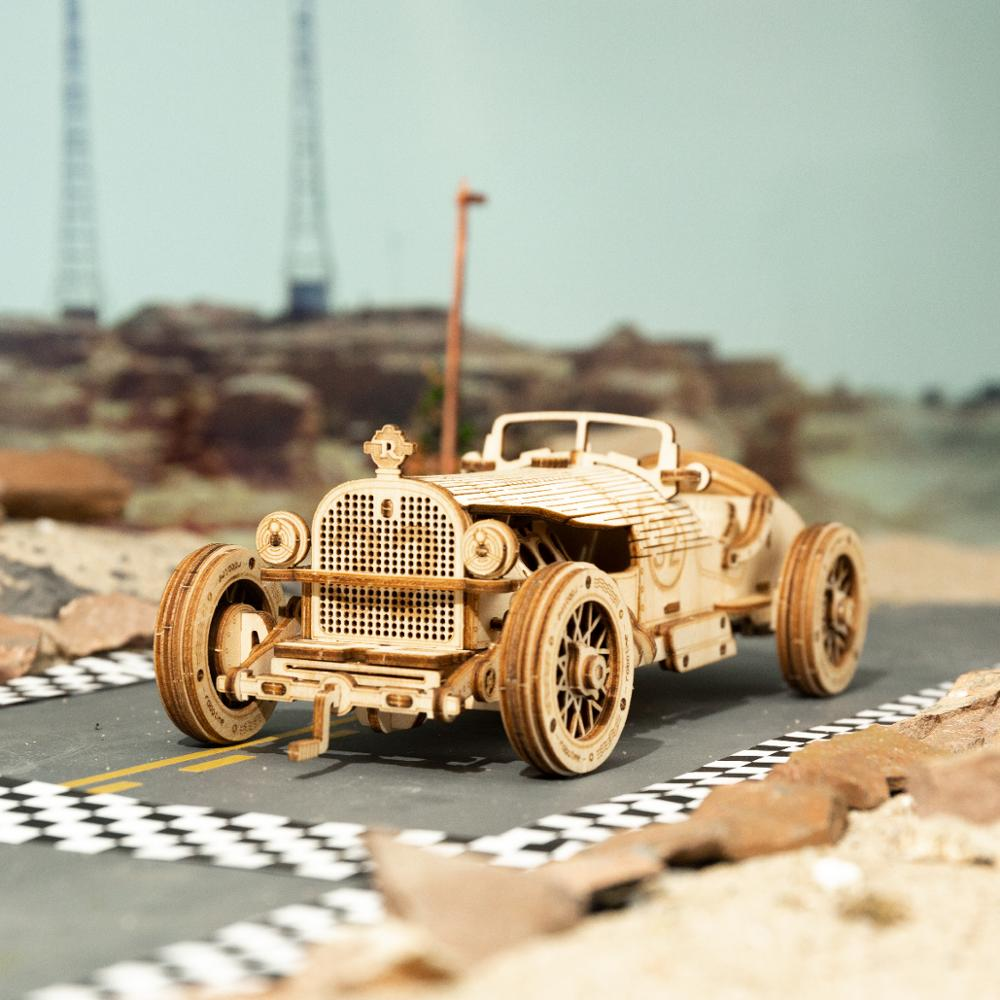 DIY 220 Pcs 3D Wooden Grand Prix Car Puzzle