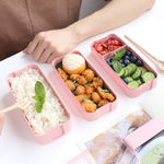 Wheat Straw Portable Eco Friendly Lunch Box