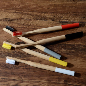 10 Pack Bamboo Toothbrushes