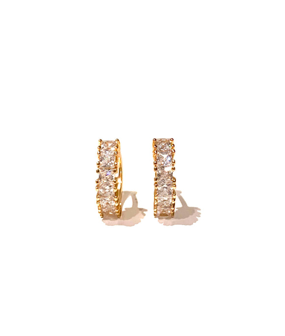 Small Cut Diamond Earrings