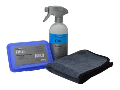 Koch Chemie - Reinigungsknete blau im Set - 200g Knete (mild) + 500ml Clay Spray - ADVANTUSE - Autopflegeshop