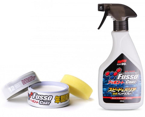 Soft99 - Fusso Coat light 200g + Speed & Barrier Handspray 500ml - Protection Time Bundle -20% - ADVANTUSE - Autopflegeshop