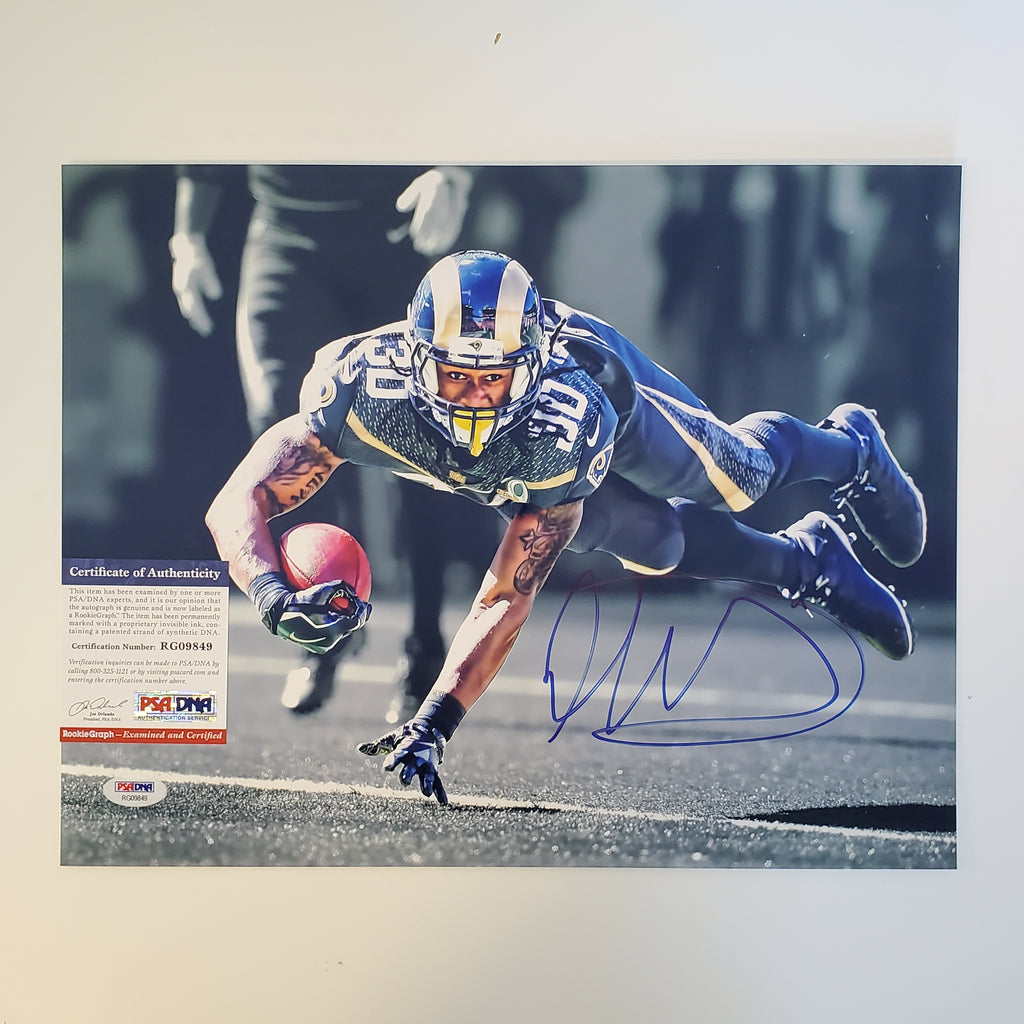 Todd Gurley Signed Autographed 11x14 Rams PSA/DNA COA AUTO
