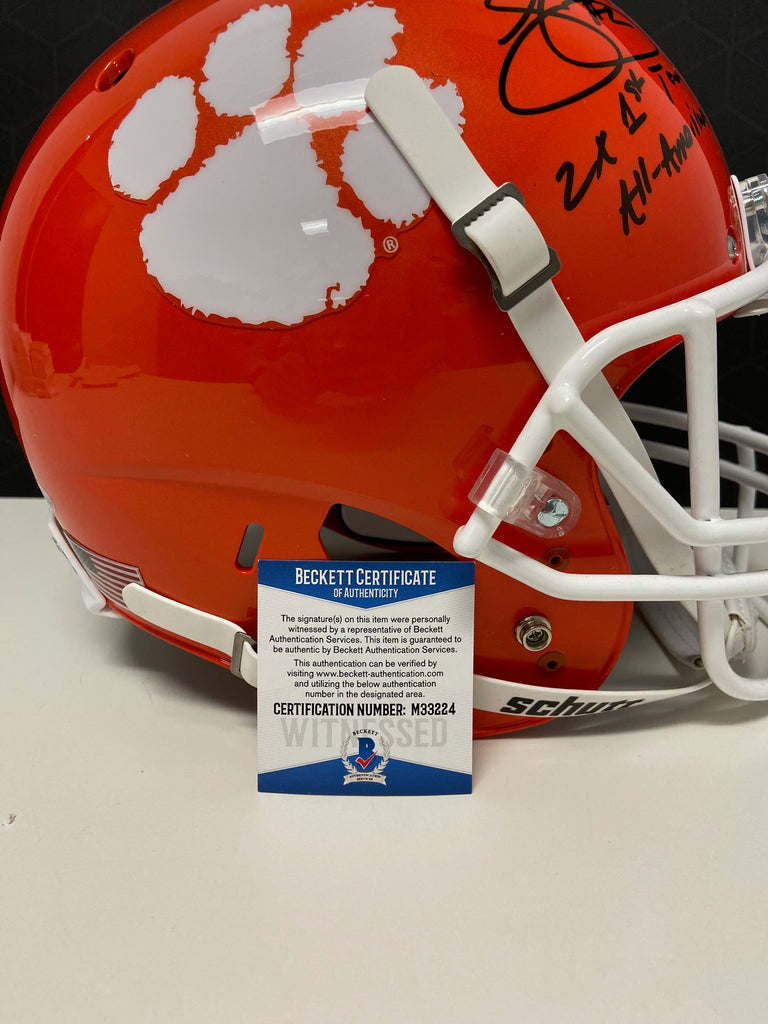 Sammy Watkins Signed Full Size Tigers Replica Helmet Beckett COA AUTO