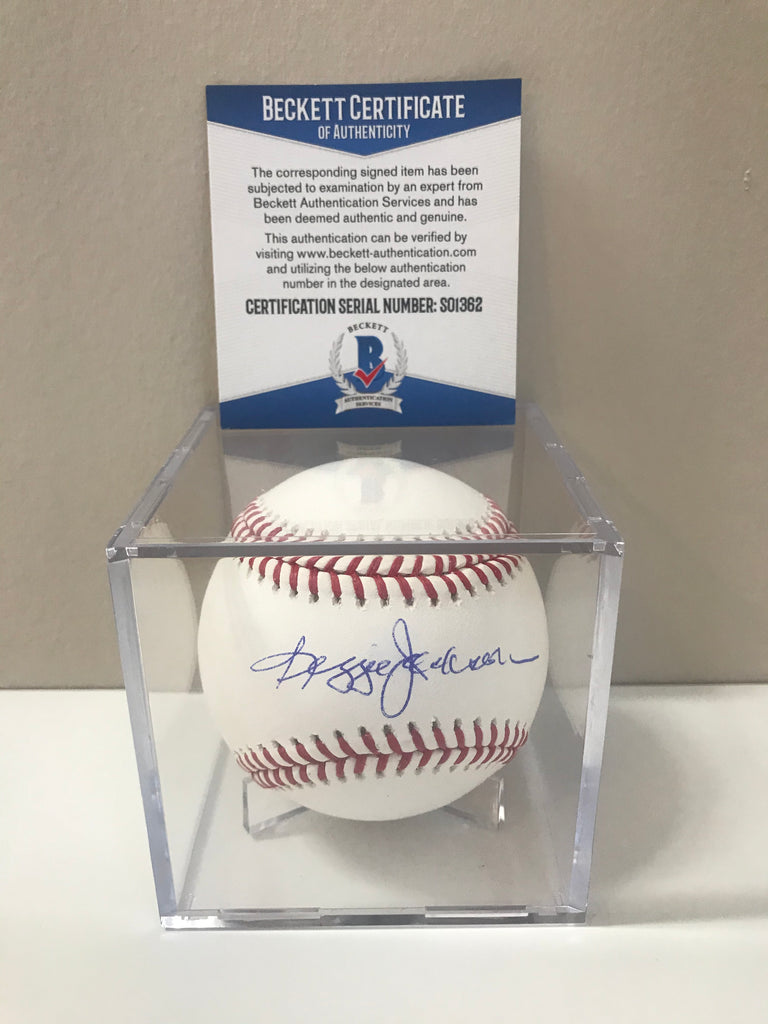 Reggie Jackson Autographed Signed Authentic MLB Baseball Beckett COA HOF AUTO