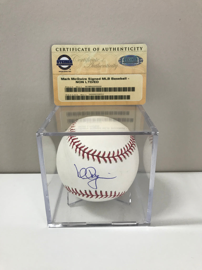 Mark McGwire Autographed Signed Authentic MLB Baseball Steiner COA HOF AUTO